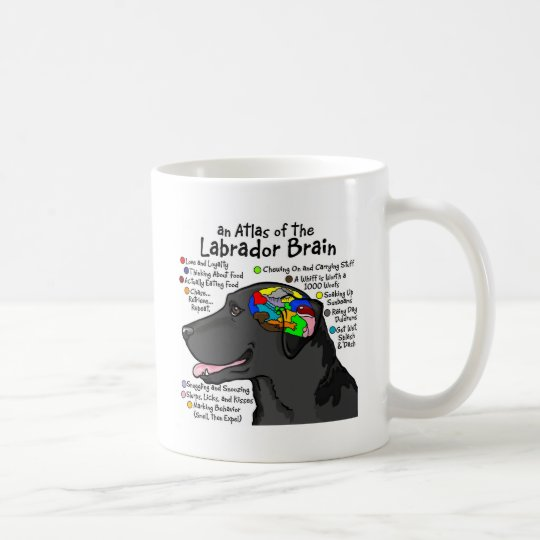 Black Labrador Brain Atlas Coffee Mug