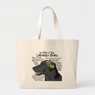Black Labrador Brain Atlas Large Tote Bag