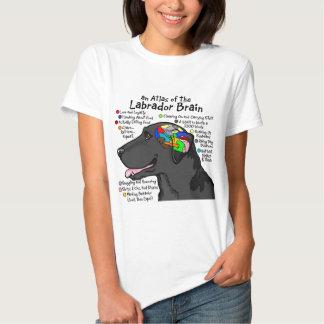 Black Labrador Brain Atlas Tee Shirt