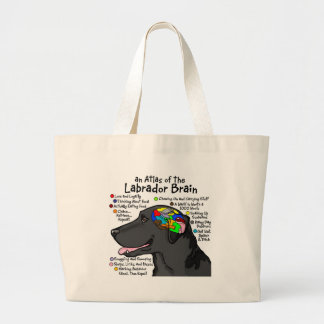 Black Labrador Brain Atlas Tote Bags