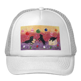 Black Labrador Christmas Trucker Hat
