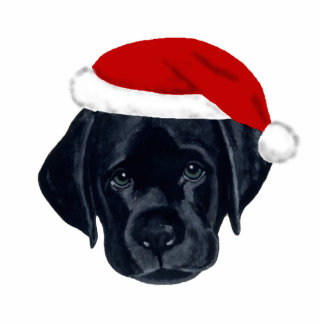 Black Labrador Christmas Ornament Photo Sculpture Decoration