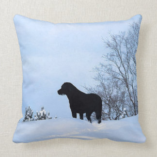 Black Labrador Cushion