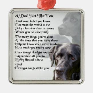Black Labrador  Dad Poem Christmas Ornament