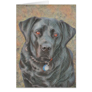 Black Labrador Dog All Purpose Greetings Card