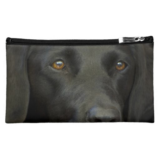 Black Labrador Dog Cosmetics Bags