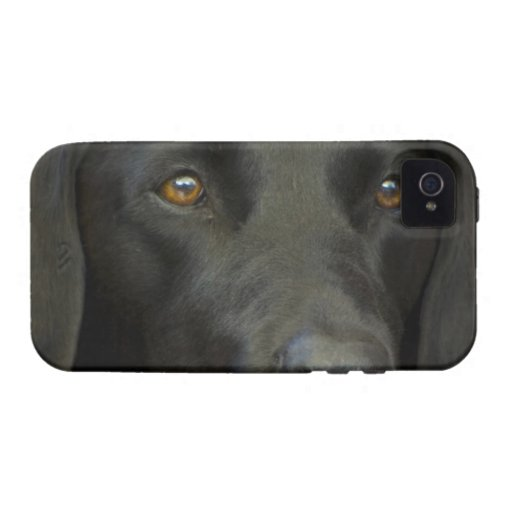 Black Labrador Dog iPhone 4 Case
