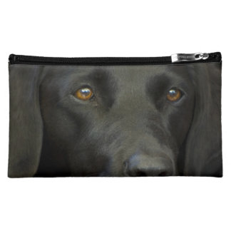 Black Labrador Dog Cosmetic Bag