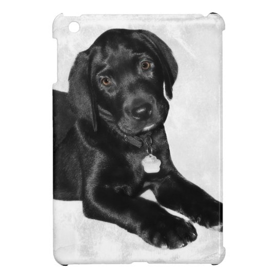Black labrador dog iPad mini cases