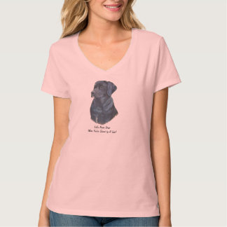 black labrador dog portrait realist art T-Shirt