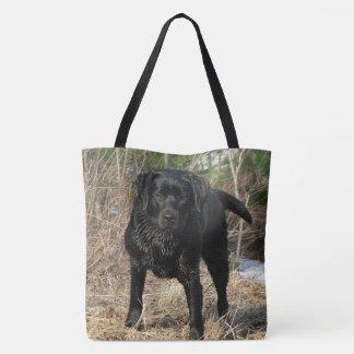 Black Labrador - Early Spring Hunt Tote Bag