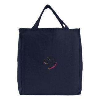 Black Labrador Embroidered Bags