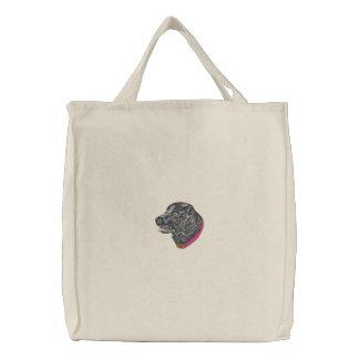Black Labrador Embroidered Bag