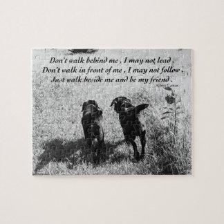Black Labrador Friends Quote Puzzle