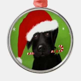 Black Labrador -Funny Christmas Dog Christmas Ornament