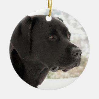 Black Labrador - Gazing Views Christmas Ornament