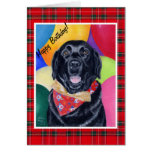 Black Labrador Happy Birthay Painting