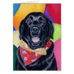 Black Labrador Happy Birthay Painting Cards