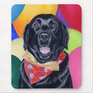 Black Labrador Happy Birthay Painting Mousepad