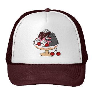 Black Labrador & Ice Cream Sundae Cap