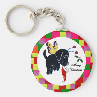 Black Labrador Key Chains