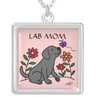 Black Labrador LAB MOM necklace