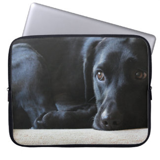 Black Labrador Laptop Sleeve