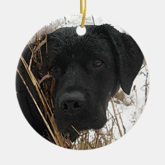 Black Labrador - Late Season Hunt Christmas Ornament