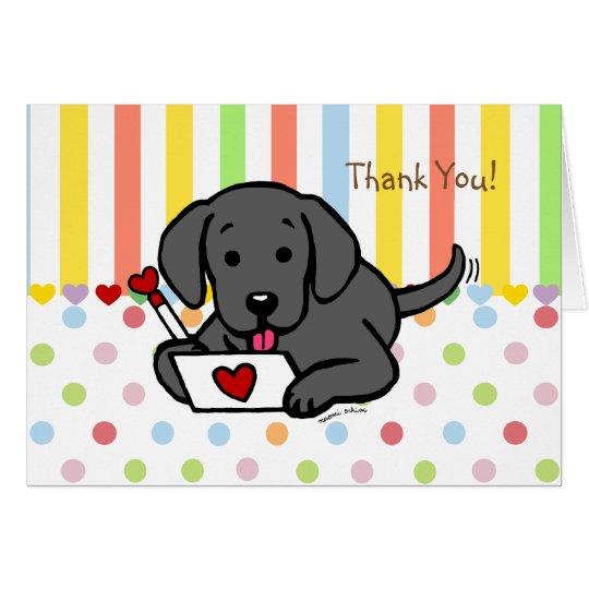 Black Labrador Love Letter Card