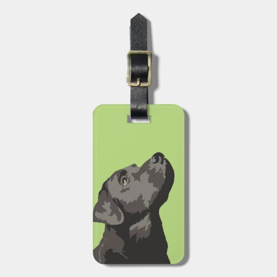 Black Labrador Luggage Tag (Choose Your Colour)