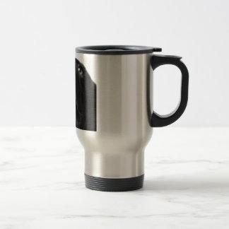 Black Labrador nose up close Travel Mug