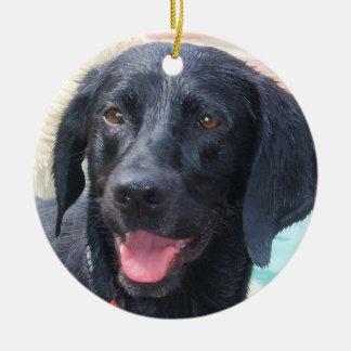 Black Labrador ornament