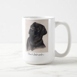 Black Labrador Painted in Watercolour Classic White Coffee Mug