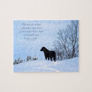 Black Labrador - Path Life Quote 2 Puzzle