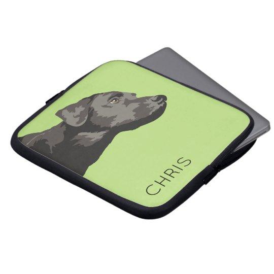 Black Labrador Personalised Laptop Sleeve