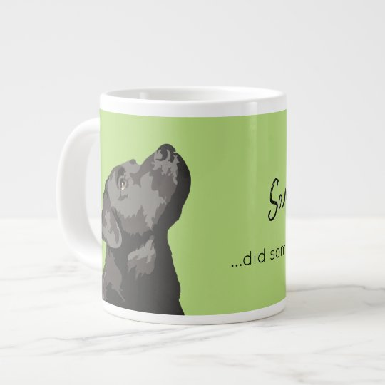 Black Labrador Personalised Large Mug