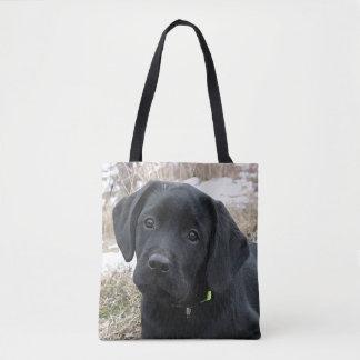 Black Labrador Puppy - Early Spring Hunt Tote Bag