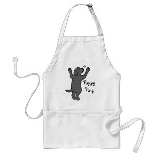 Black Labrador Puppy Hug Standard Apron