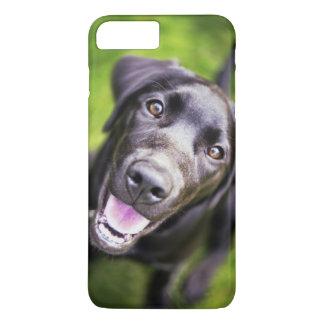 Black labrador puppy looking upwards, close-up iPhone 8 plus/7 plus case