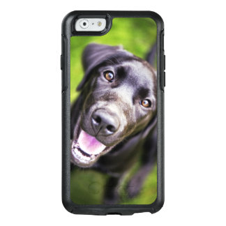 Black labrador puppy looking upwards, close-up OtterBox iPhone 6/6s case