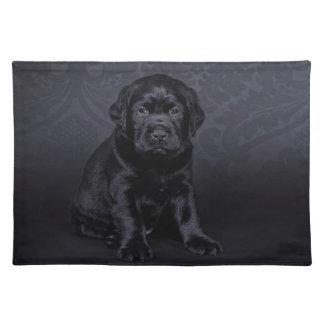 Black Labrador puppy Placemat