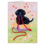Black Labrador Puppy Thank You Card