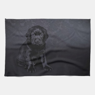 Black Labrador puppy Towels