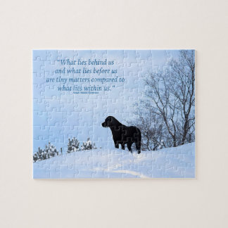 Black Labrador Quote - What lies within Us 2 Jigsaw Puzzle