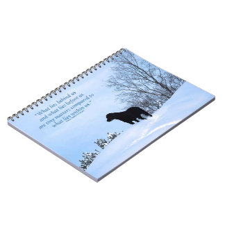 Black Labrador Quote - What lies within Us 2 Notebook