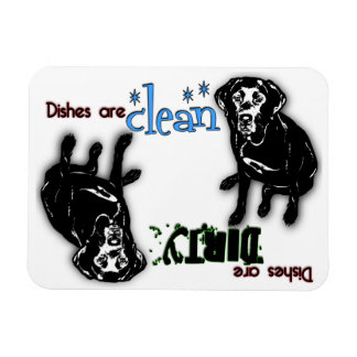 Black Labrador Rectangle Dishwasher Magnet