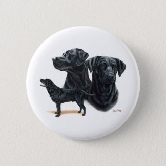 Black Labrador Retriever 6 Cm Round Badge