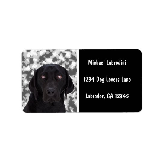 Black Labrador Retriever Address Label