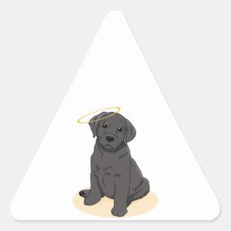 Black Labrador Retriever Angel Triangle Sticker