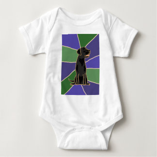 Black Labrador Retriever Art Baby Bodysuit